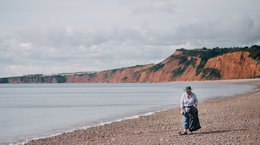 Volunteer on Budleigh Beach During Great British Beach Clean GBBC 2017 Andrew Brown