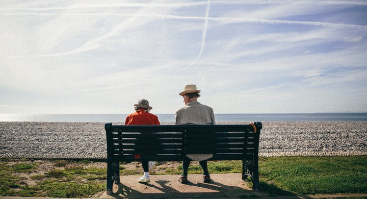 Couple on Budleigh Beach during Great British Beach Clean GBBC 2017 Andrew Brown