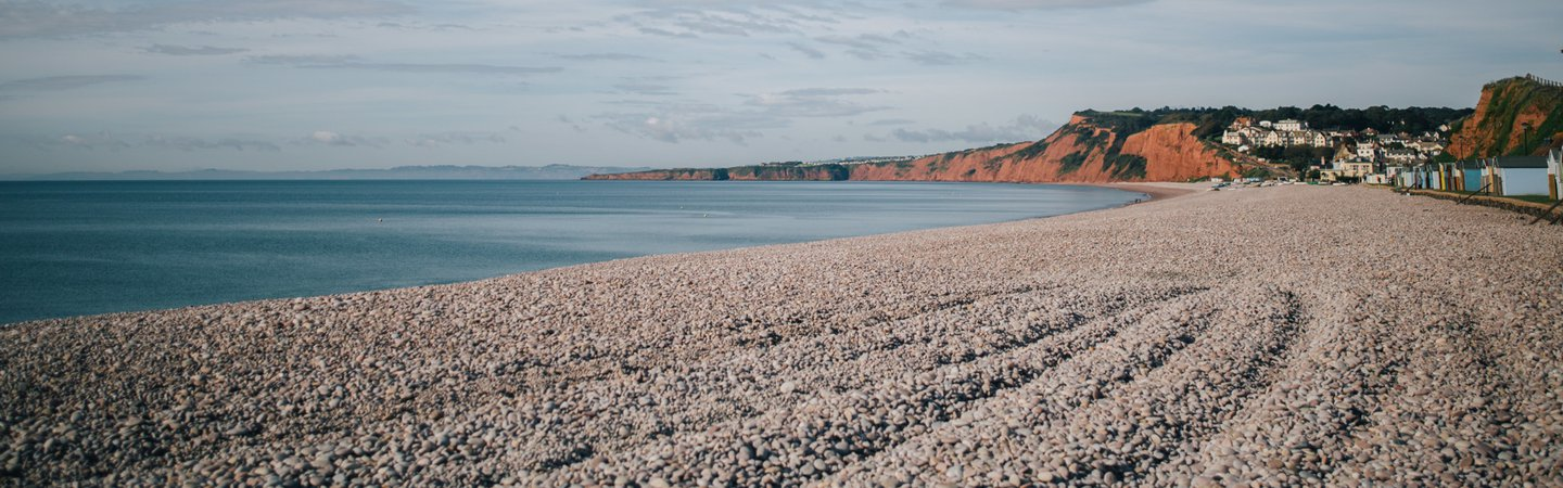 Budleigh beach during Great British Beach Clean GBBC 2017 Andrew Brown