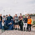 Volunteers at Great British Beach Clean on Budleigh Beach Andrew Brown