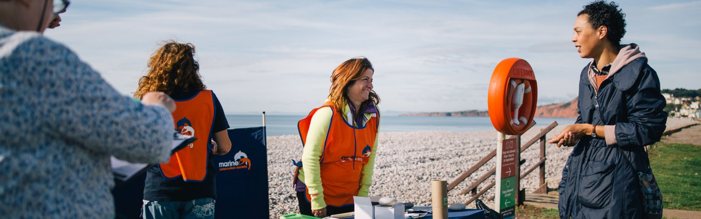Justine Staff member at GBBC Budleigh Beach 2017 Andrew J Brown