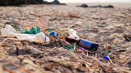Beach litter at Crantock beach Cornwall Natasha Ewins
