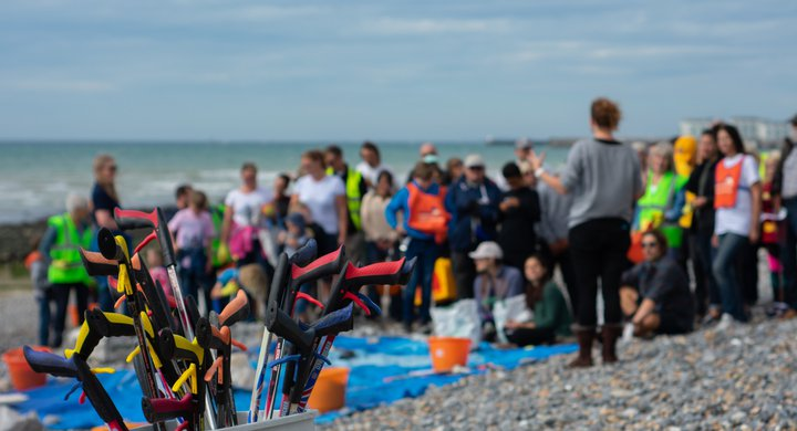 Beach clean at Ovingdean beach Jack Donovan