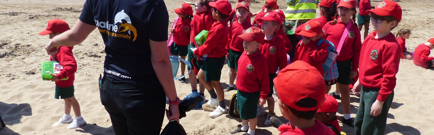 Ashbrooke House School students during Cool Seas Clean Up programme Ali Naulls
