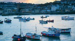 Fishing boats in St Ives Cornwall Natasha Ewins