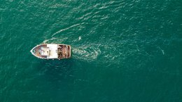 Small fishing trawler off the coast of Ayrshire, Scotland Norrie3699