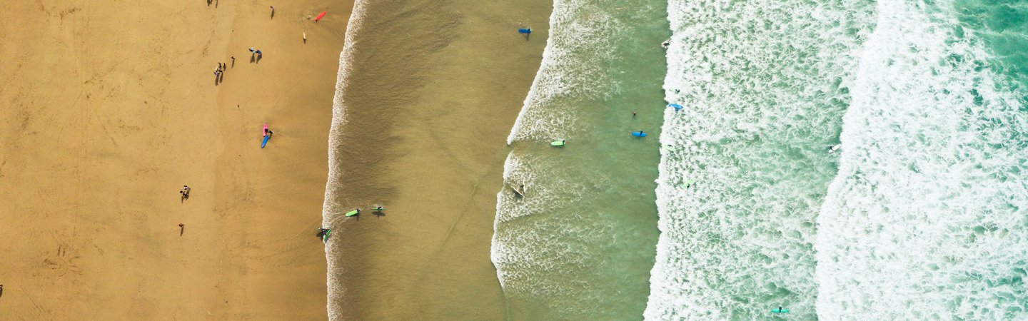 Newquay sea aerial photo Louis Reed